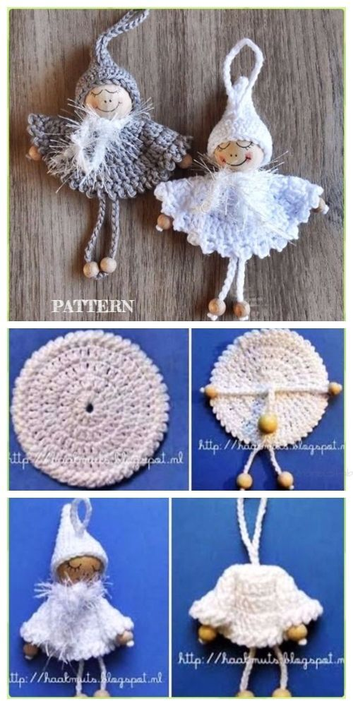 Photo of Crochet Bead Angel Ornament Free Crochet Pattern