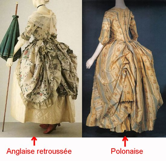 Robe A La Polonaise: Temps D'élégance: The Difference Between The Anglaise
