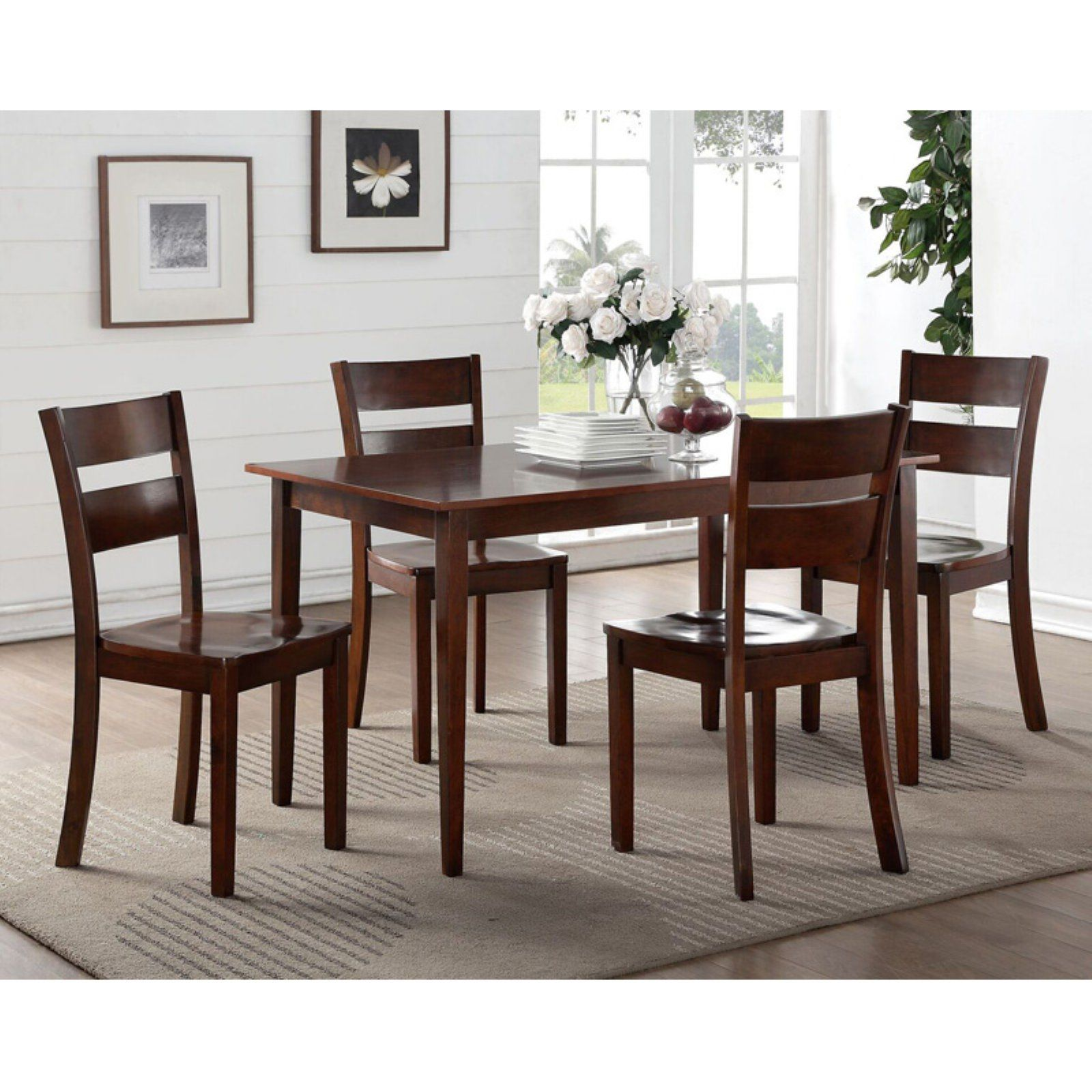 Super Kb Furniture Dark Brown Wood Dining Chairs Set Of 2 Customarchery Wood Chair Design Ideas Customarcherynet