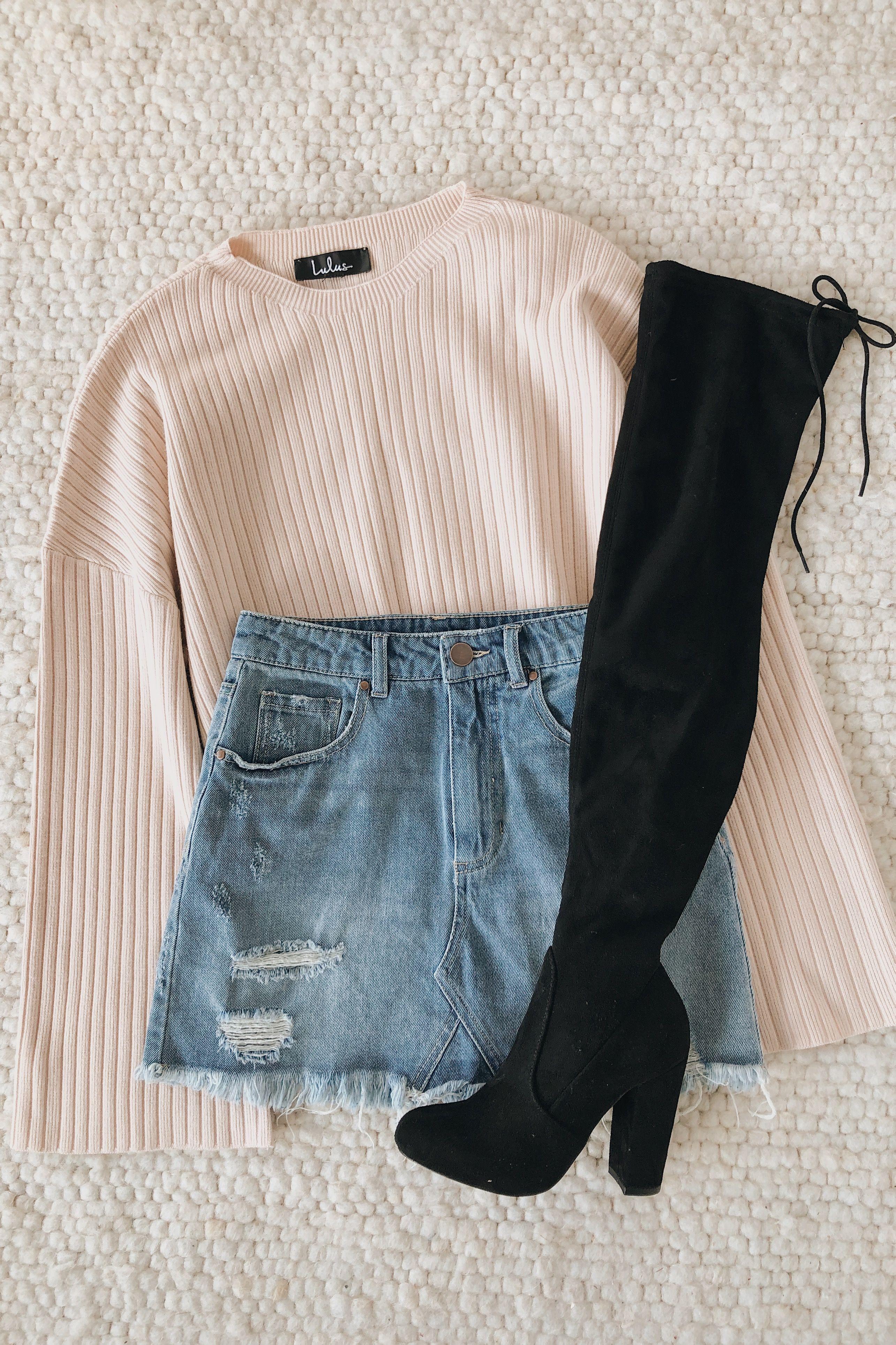 Americana Light Wash Distressed Denim Mini Skirt