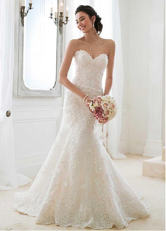 Buy discount Alluring Tulle Sweetheart Neckline Mermaid Wedding ...