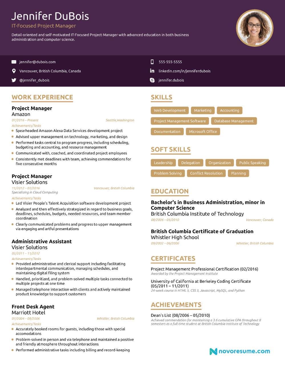 Project Manager Resume 2019 Example Full Guide Project Manager Resume Project Management Templates Good Resume Examples