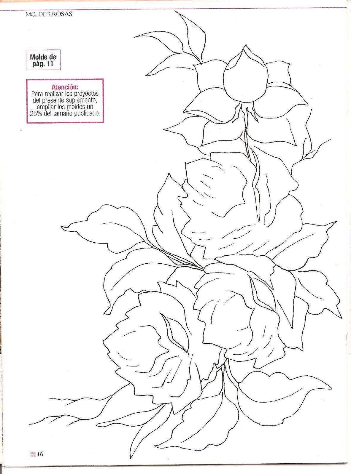flores para pintar en tela - Pesquisa Google | Proyectos por hacer ...