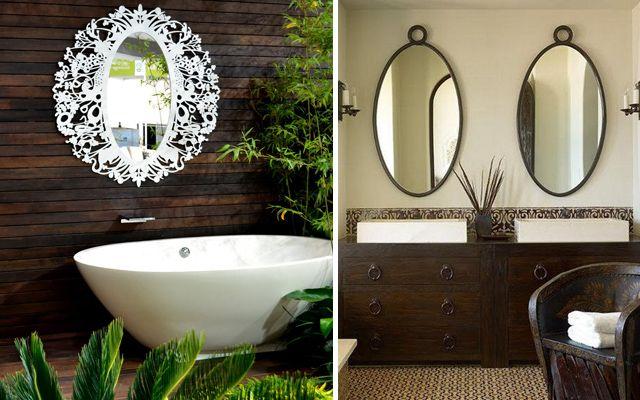 baño decorados con espejo diferentes estilos y resultados