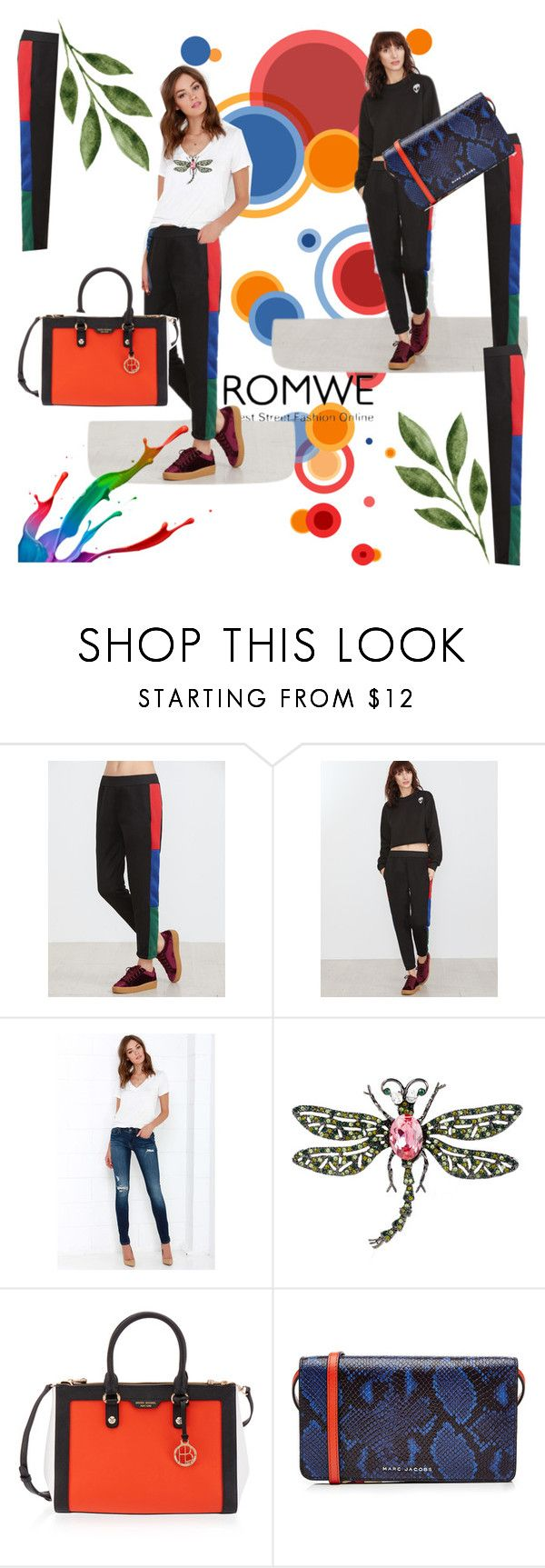 """""""Romwe"""" by vaslida ❤ liked on Polyvore featuring BLANKNYC, Kenneth Jay Lane, Henri Bendel and Marc Jacobs"""