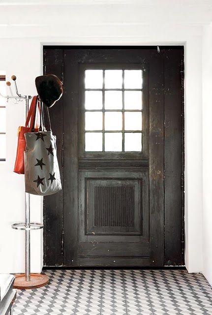 I want a black front door