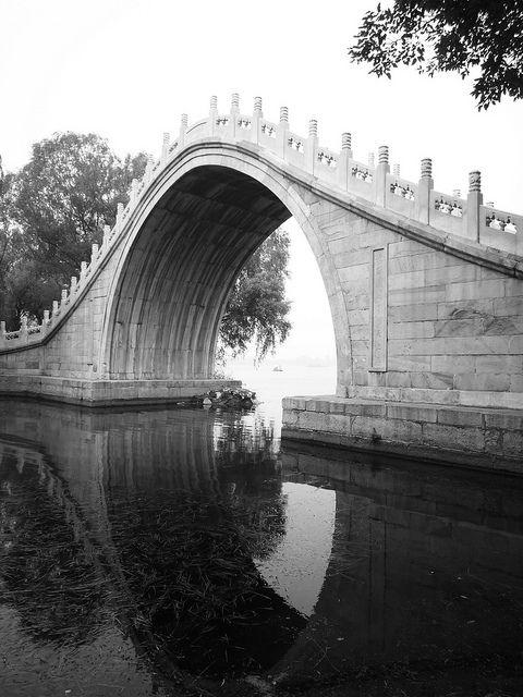 Summer Palace Beijing china, Qianlong emperor and Beijing - chinesischer garten brucke