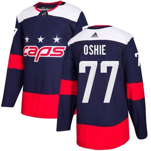 competitive price 0ce17 2d749 Adidas Capitals #77 T.J. Oshie Navy Authentic 2018 Stadium ...