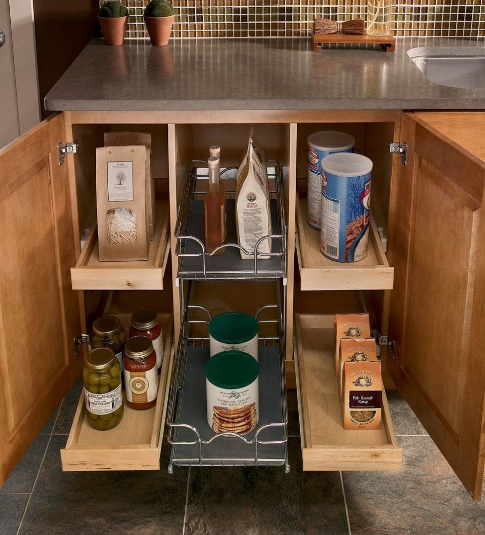 kitchen utensils modern triple drawers blind corner on clever ideas for diy kitchen cabinet organization tips for organizers id=93077