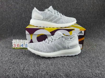Details about Mens Adidas PureBOOST BA8893 White Grey Trainers