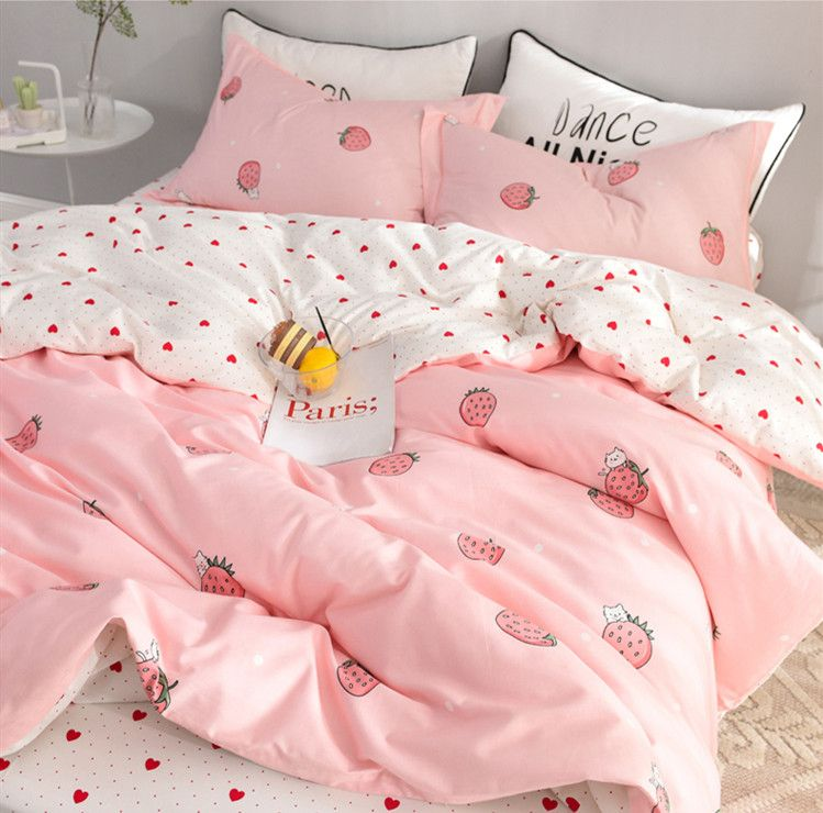 Fashion Strawberry Bed sheet,Quiltcover,Pillowcover