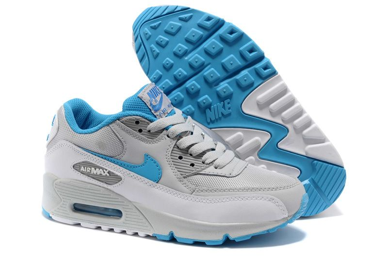 super popular c3dec 42b0c Nike Air Max 90 Mens Cool Grey Chlorine Blue 325018 096
