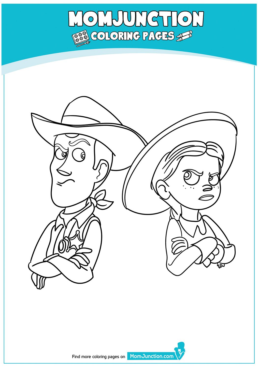 print coloring image MomJunction Toy story coloring