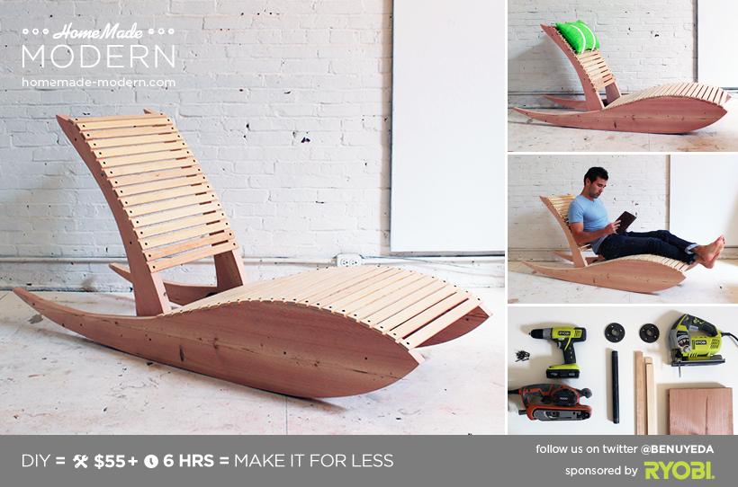 Homemade Modern Diy Lounge Chair 1 0 Postcard Backyard Furniture Diy Diy Outdoor Furniture Modern Chaise Lounge Chairs