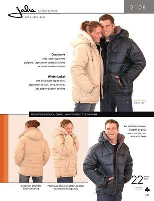 Jalie 2108 from Jalie patterns is a winter jacket sewing pattern ...