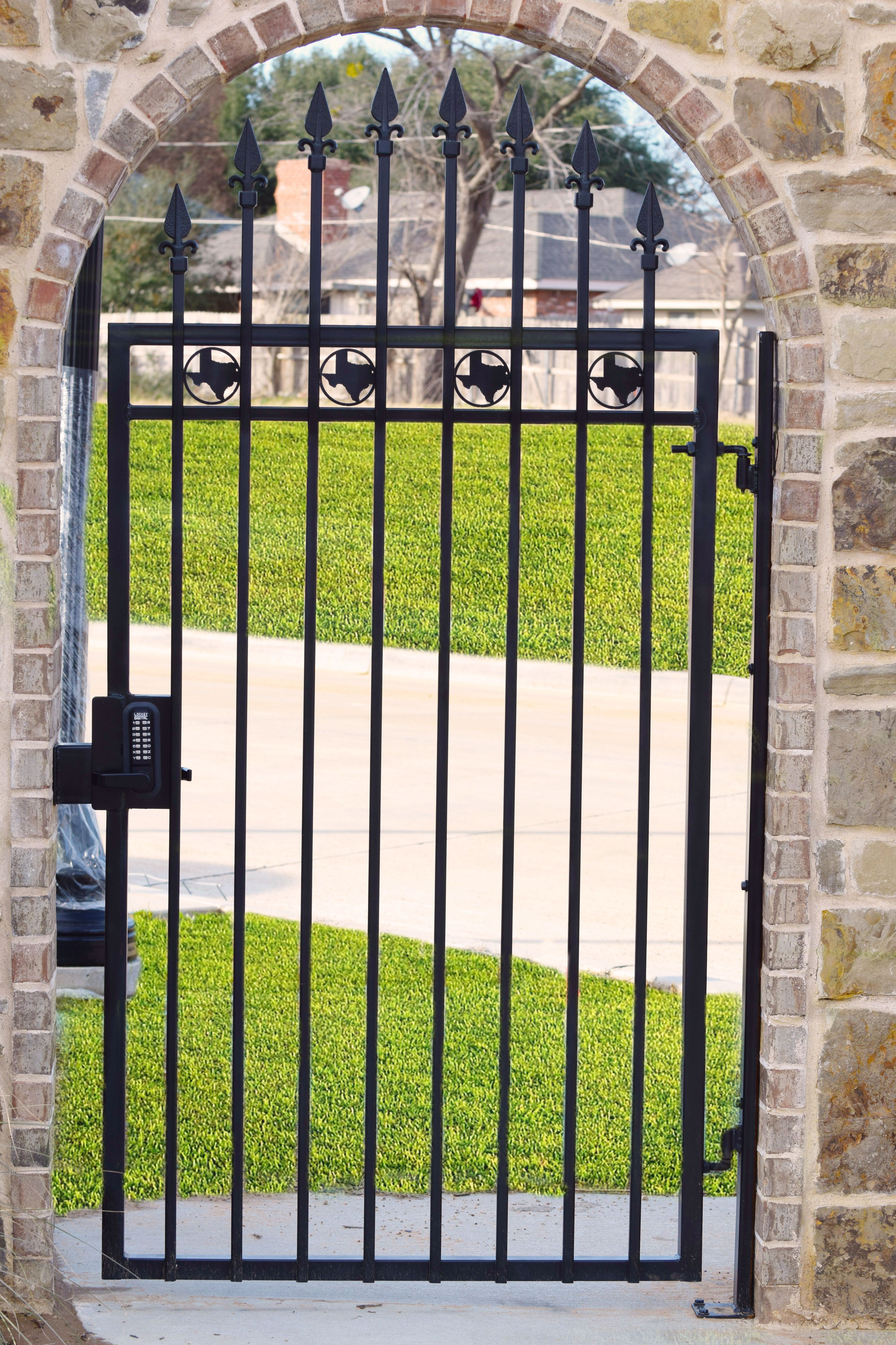 Check Out This Awesome Entry Gate You Can Get All The Components In One Stop At King Metals Finials 45 270 58 Lockey Digital Hardscape Gate Hinges Entry Gates