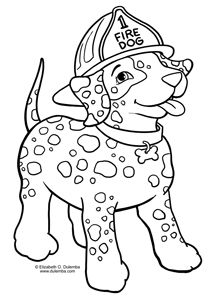 Coloring Page Tuesday Fire Dog Hot 2 Coloring Pages Dog