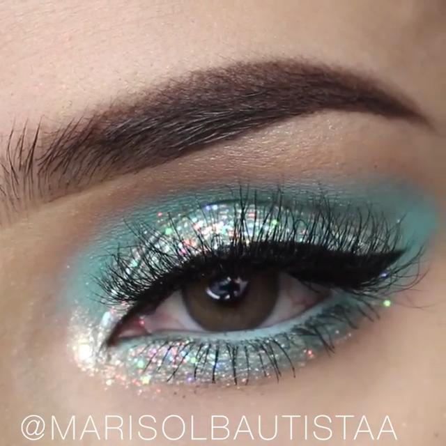 Gorgeous #lidschatten videos Glitter Aqua Eye Makeup ...