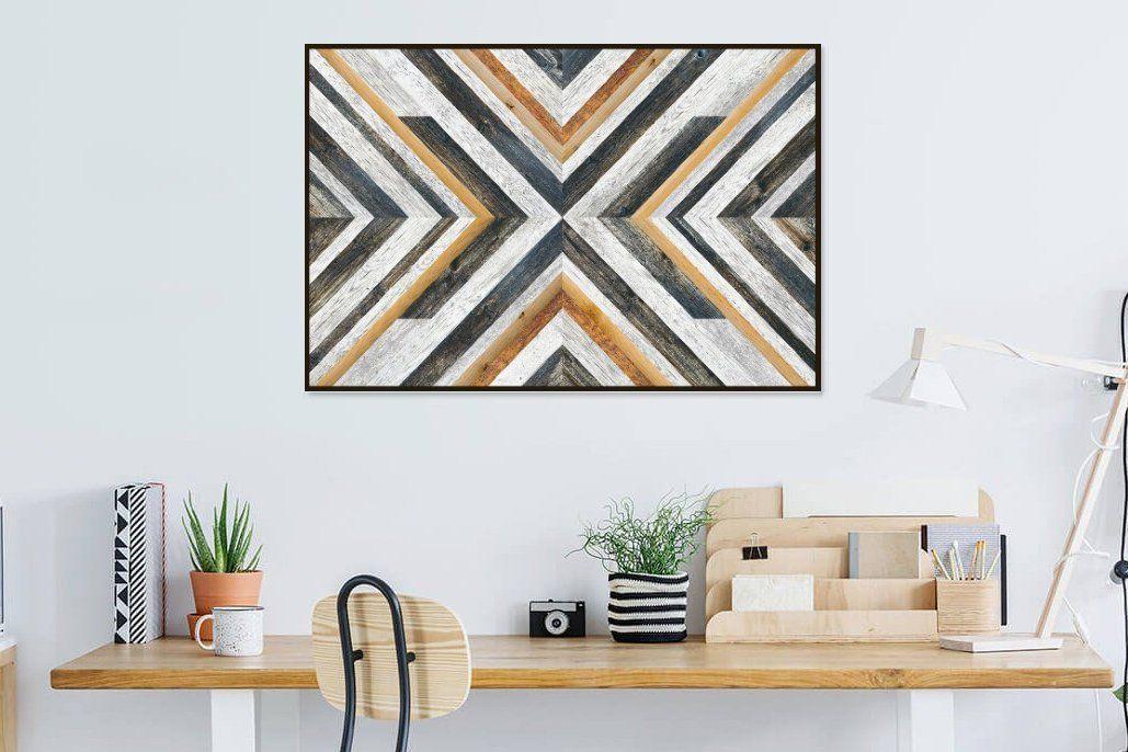 Scandinavian Wall Print High Quality Wood Texture