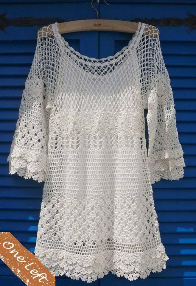 Pin de Alicia en Crochet | Pinterest | Blusas, Blusas crochet y ...