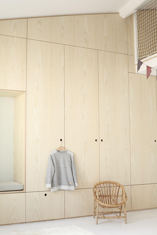 Archi children\'s room renovation Heju 14 | attic | Bedroom wardrobe ...