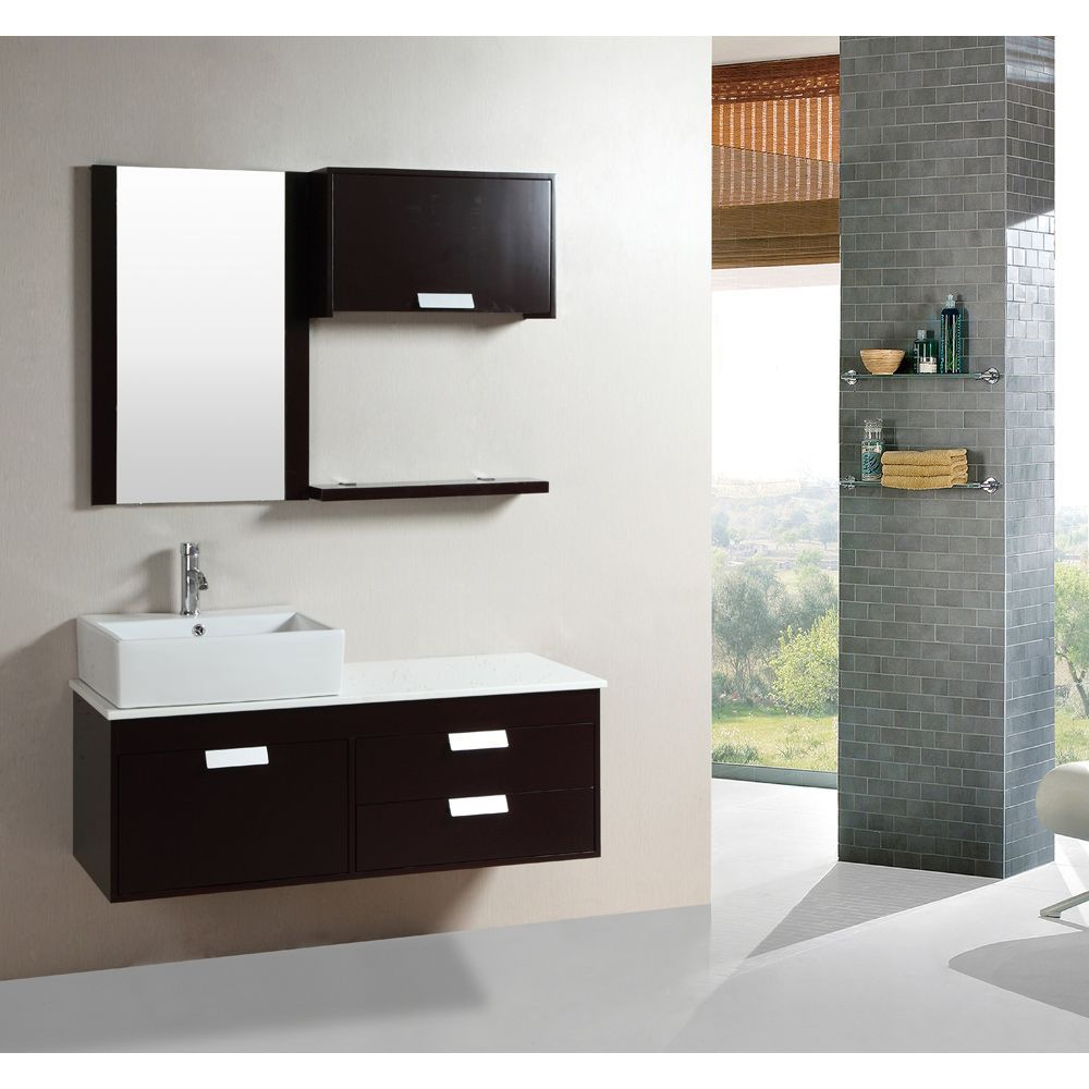 This floating bathroom vanity set is an excellent way to Floating bathroom vanity