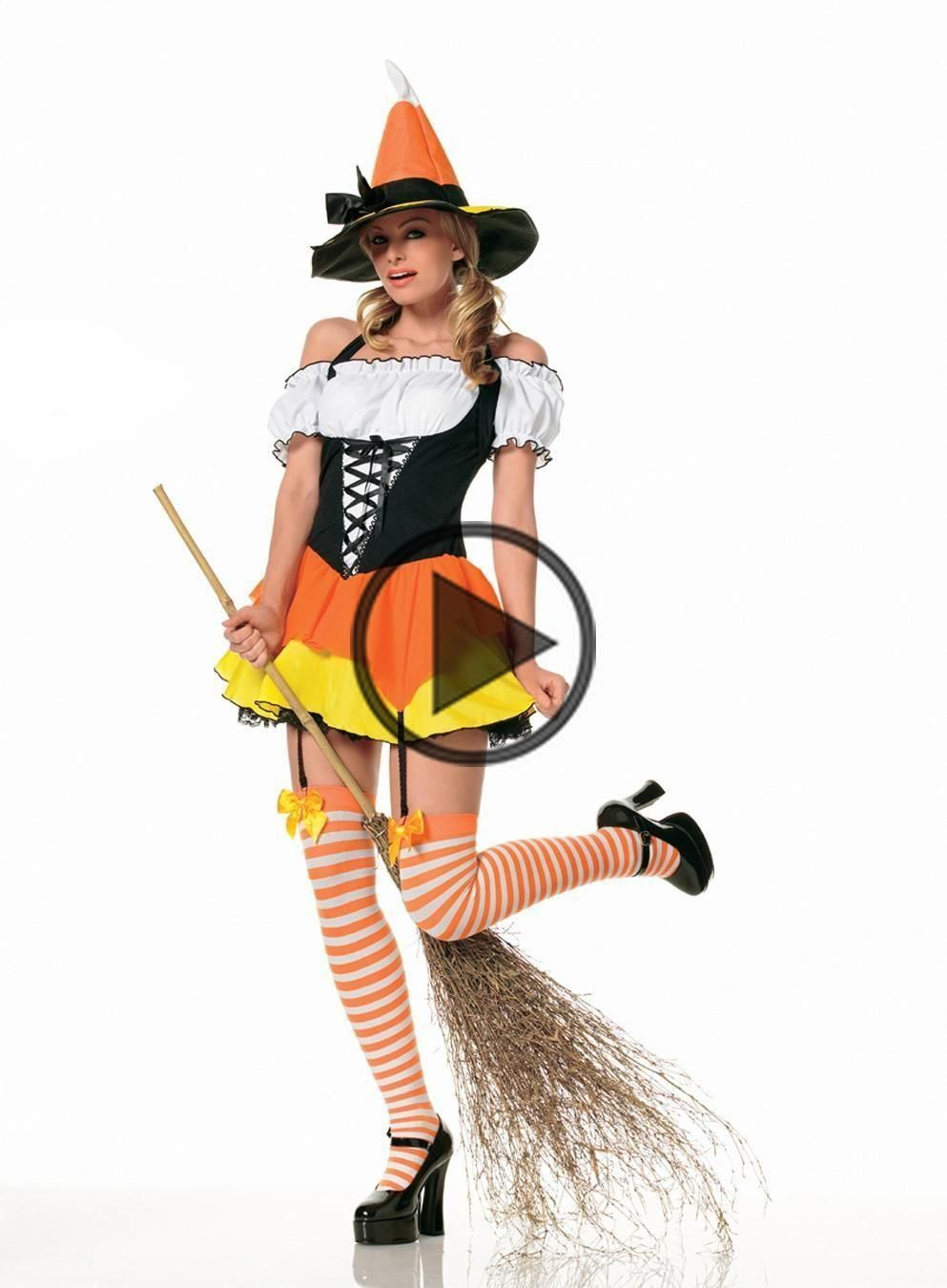 Women's Candy Corn Witch Costume #epouvantaildeguisement Women's Candy Corn Witch Costume