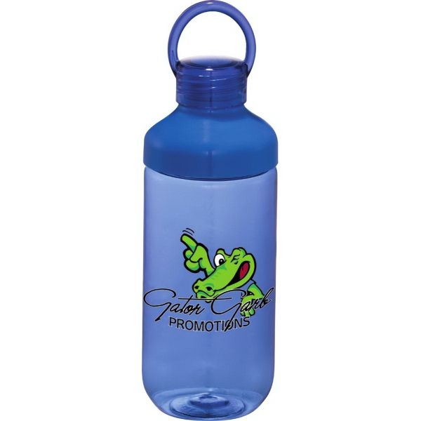 "This sport bottle's lid can be removed from body for easy filling and cleaning. Screw off cap with loop for carrying. Tritan material is shatter, stain, and odor resistant. BPA free. Exclusive. 22 oz. 9"" H x 2.9"" D."
