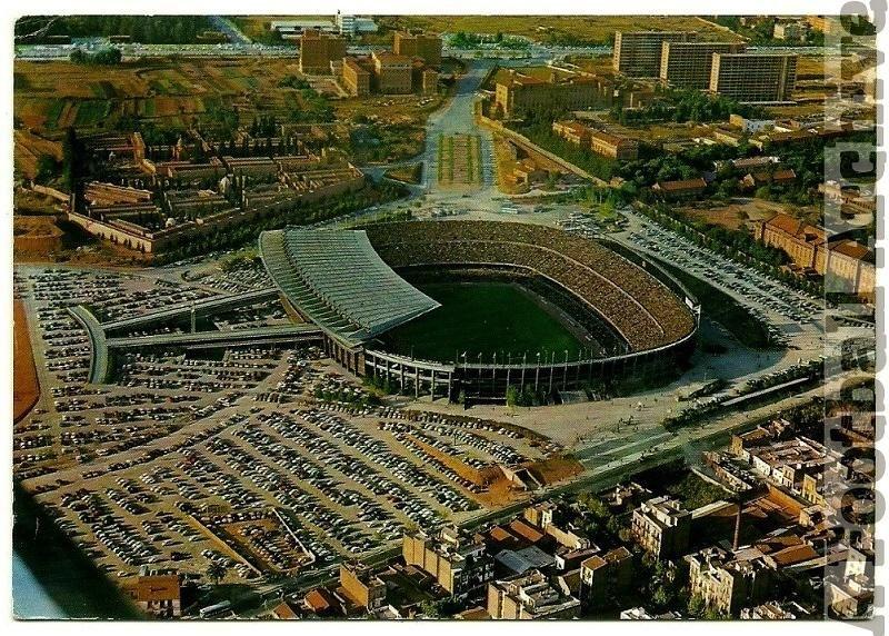 Camp Nou, Barcelona, 1960's. (Postcard)