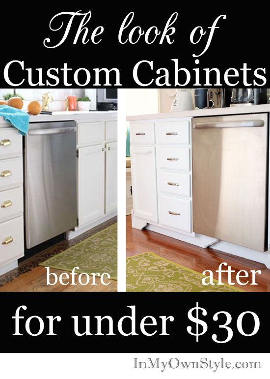Kitchen cabinet makeover. How to make kitchen cabinets look custom ...