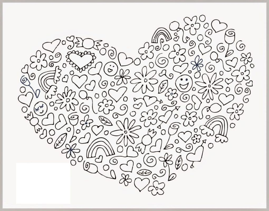 Love Coloring Pages Valentine Coloring Pages Heart Coloring Pages Mandala Coloring Pages