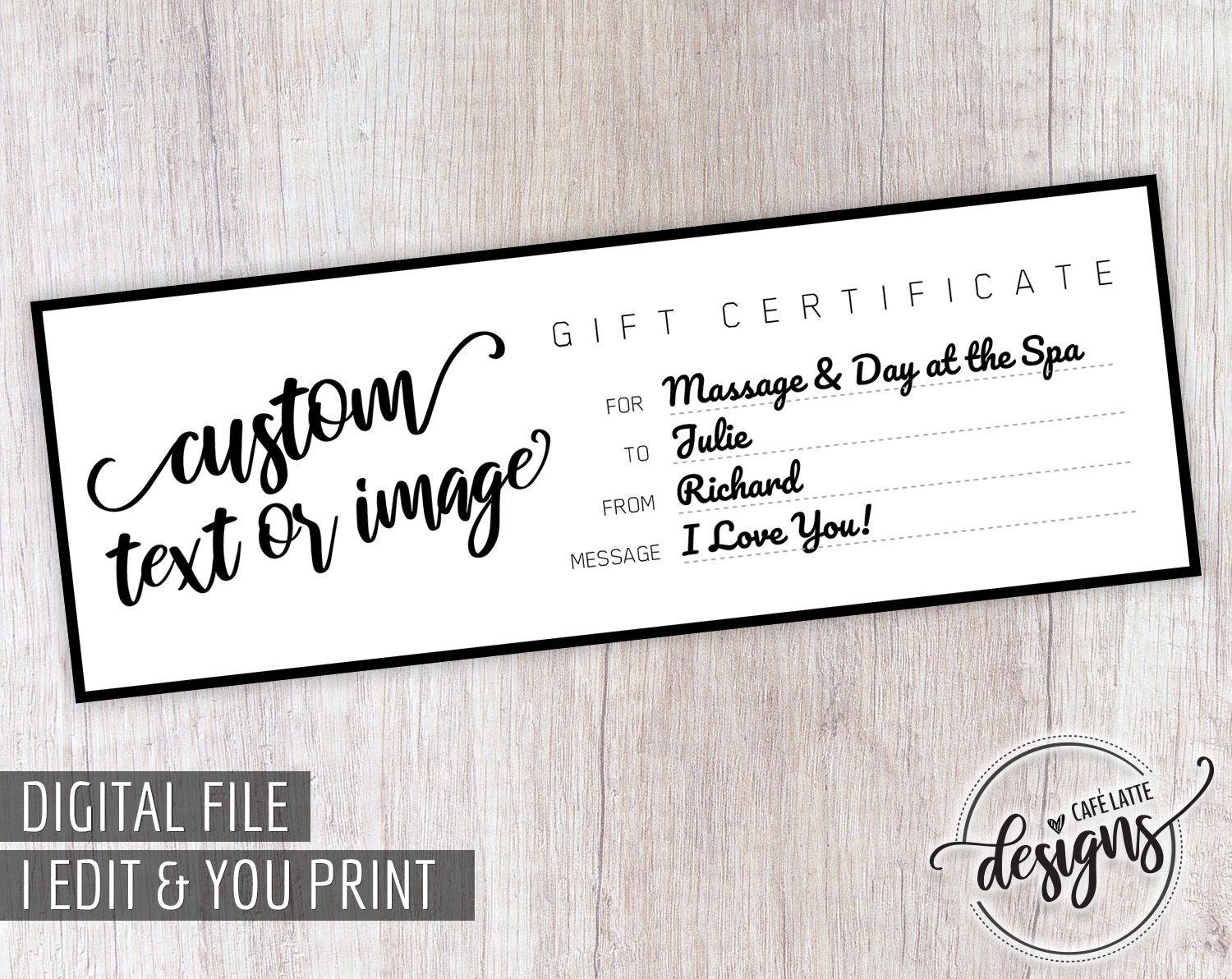 Custom Gift Certificate Birthday Printable Gift Certificate Personalized Kids Gift Coupon Wedding Anniversary Gift Idea Last Minute Gift Personalized Gifts For Kids Printable Gift Certificate Printable Gift