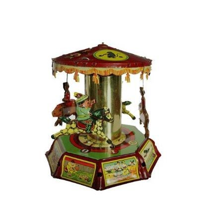 Tin Toy Collectible Horse  Pig Carousel Christmas Presence - christmas carousel decoration
