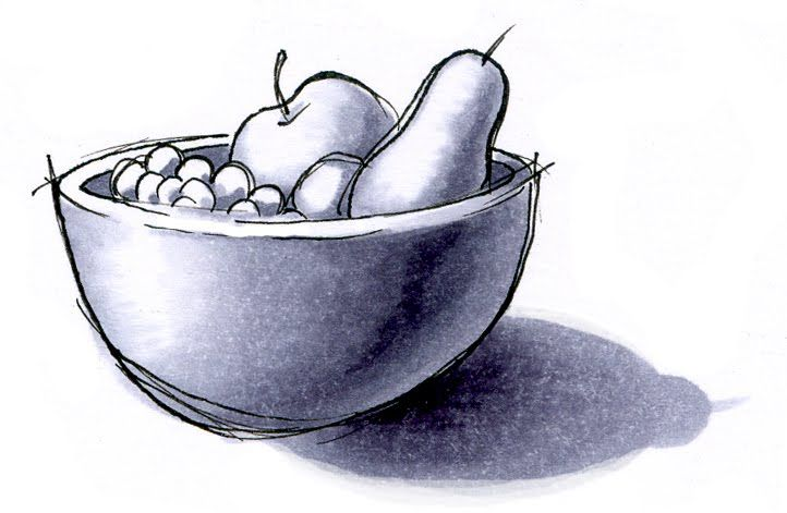 Easy Pencil Shading Drawings Of Fruits Complete Drawing Tutorial