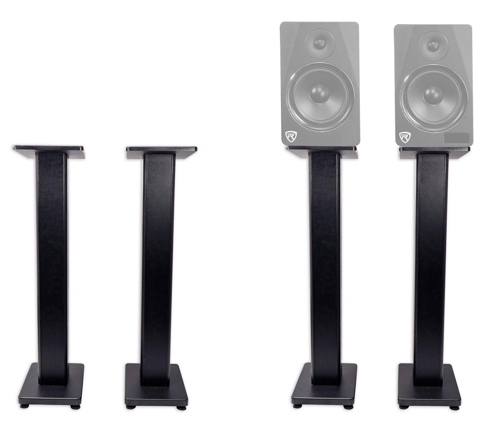 """2) rockville rhtsb 36"""" inch bookshelf speaker stands surround sound"""