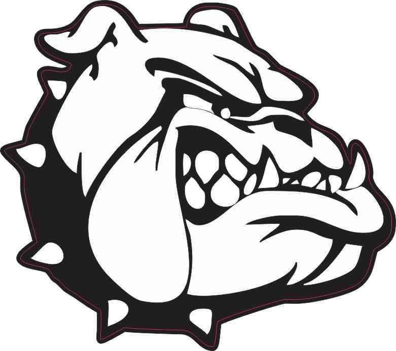 5in X 4 5in Black And White Bulldog Sticker Bulldog Clipart