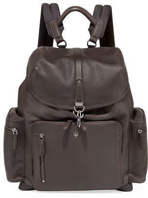 Ermenegildo Zegna Maserati Leather Backpack