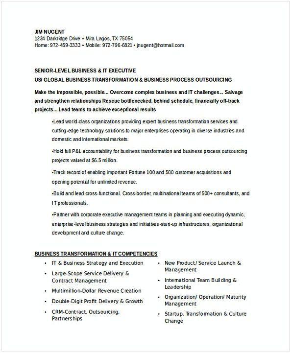 Senior IT Executive Resume , IT Operations Manager Resume , Do you ...