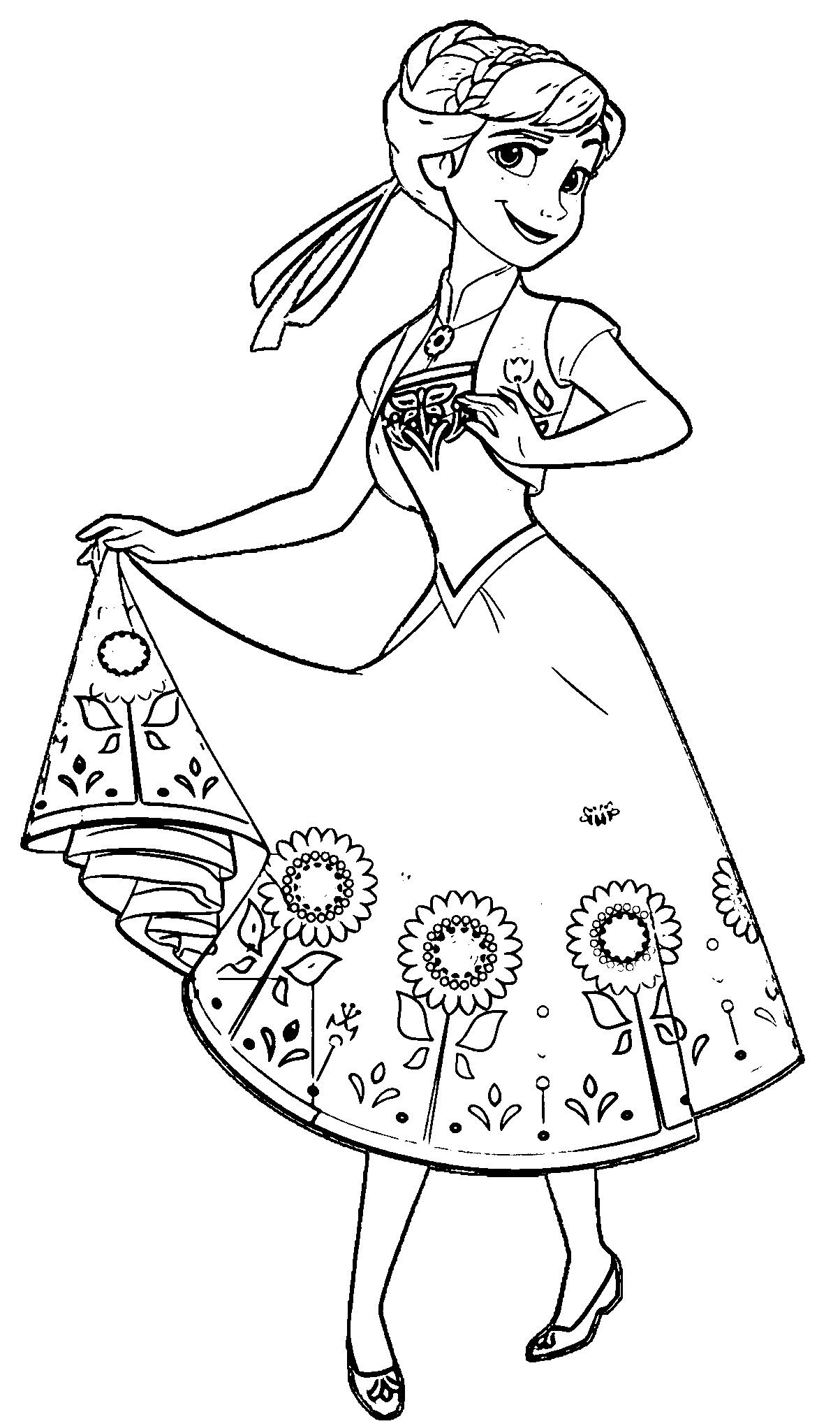 Frozen Fever Coloring Pages To Print Elsa Coloring Pages Frozen Coloring Pages Disney Coloring Pages