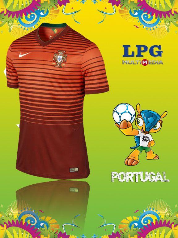 Camiseta de la selección de Portugal en el mundial #Brasil2014