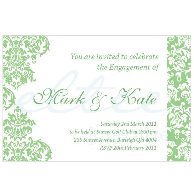 engagement party invitation wording Sample Wording For