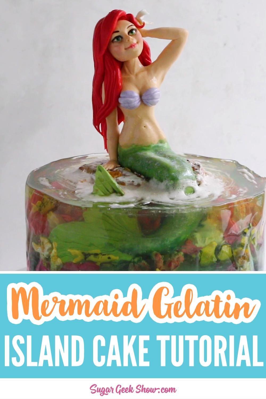 Photo of Mermaid Gelatin Island Cake – Online Course