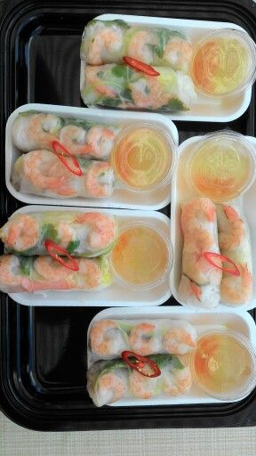 My last fresh home-made summer rolls for today