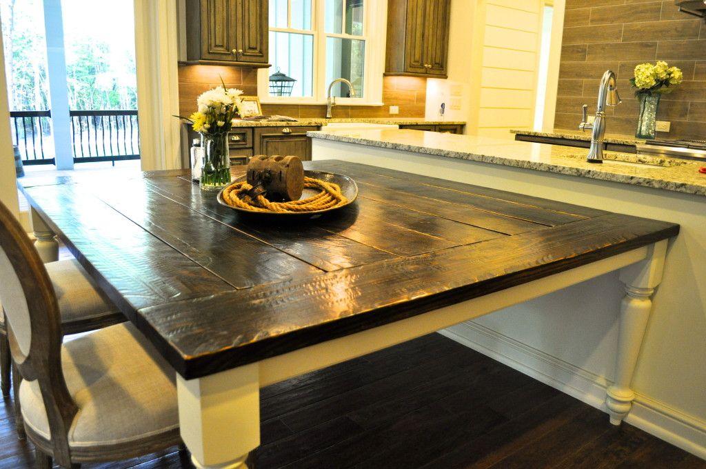 Custom Farmhouse Table Top For Deep South Building Company Under - Farm table wake forest nc
