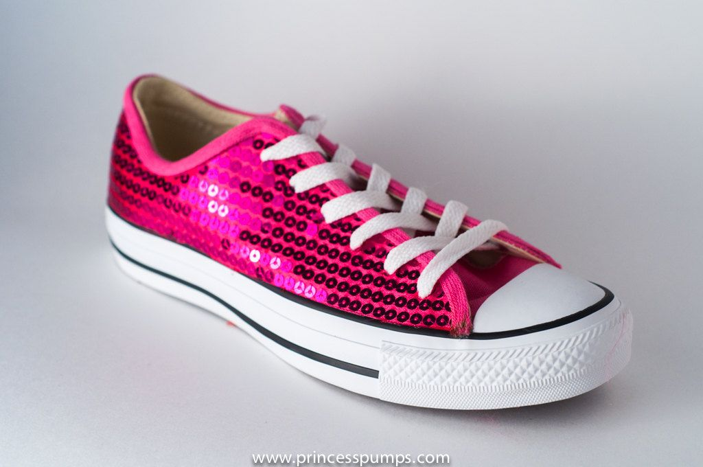 32e8c409647508 Hot Fuchsia Pink Sequin Converse All Star by princesspumps on Etsy ...