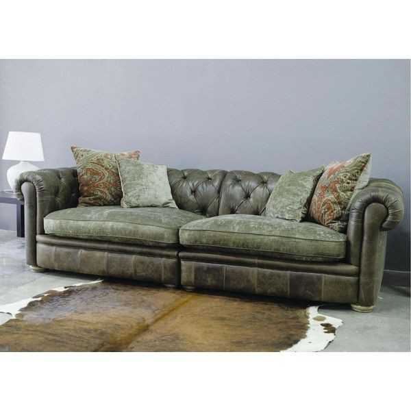 Alexander & James Franklin Leather Sofa Collection from George... via Polyvore