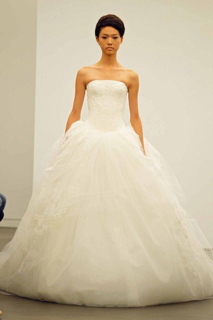 Vera Wang Strapless Ball Gown Wedding Dresses