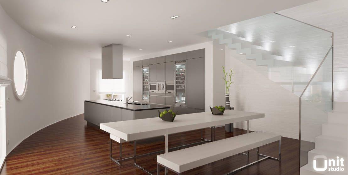 5 Idee Moderne Per Arredare La Cucina A Isola Con Penisola O A Muro Homify Luxury Loft Interior Design Living Room Dining Design