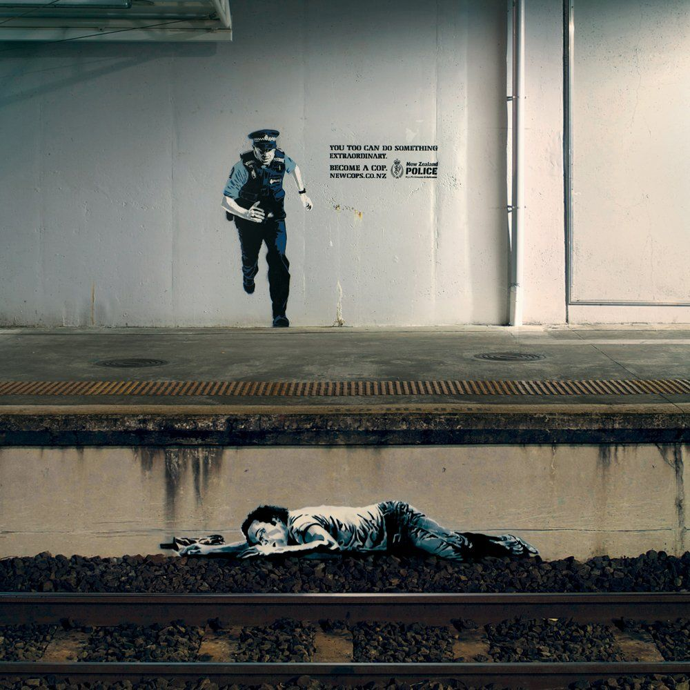 New-zealand-police-recruitment- great street art!