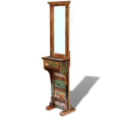 Blokker vidaxl vrijstaande spiegel massief gerecycled hout for Blokker spiegel